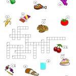 Food Crossword Puzzle Worksheet   Free Esl Printable Worksheets Made   Esl Crossword Puzzles Printable