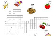 Food Crossword Puzzle Worksheet   Free Esl Printable Worksheets Made   Printable Food Puzzle