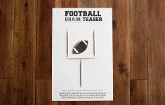 Football Brain Teaser Printable — All For The Boys   Printable Toothpick Puzzles