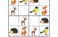 Forest Animals Sudoku {Free Printables}   Gift Of Curiosity   Printable Animal Puzzles