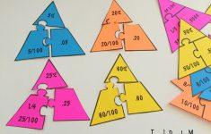Fraction – Percentage – Decimal Math Puzzles – Teach Beside Me   Printable Decimal Puzzles