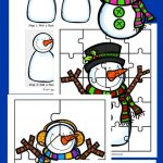 Free 5 Build A Snowman Activities Printable Pack   Happy And Blessed   Printable Snowman Puzzle