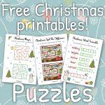 Free Christmas Printables   Puzzles ⋆ Mama Geek   Christmas Puzzles Printable Uk