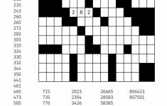 Free Downloadable Number Fill In Puzzle   # 001   Get Yours Now   Number Crossword Puzzles Printable