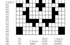 Free Downloadable Puzzle Number Fill In # 2   Teacher In Heart And   Printable Crossword #2