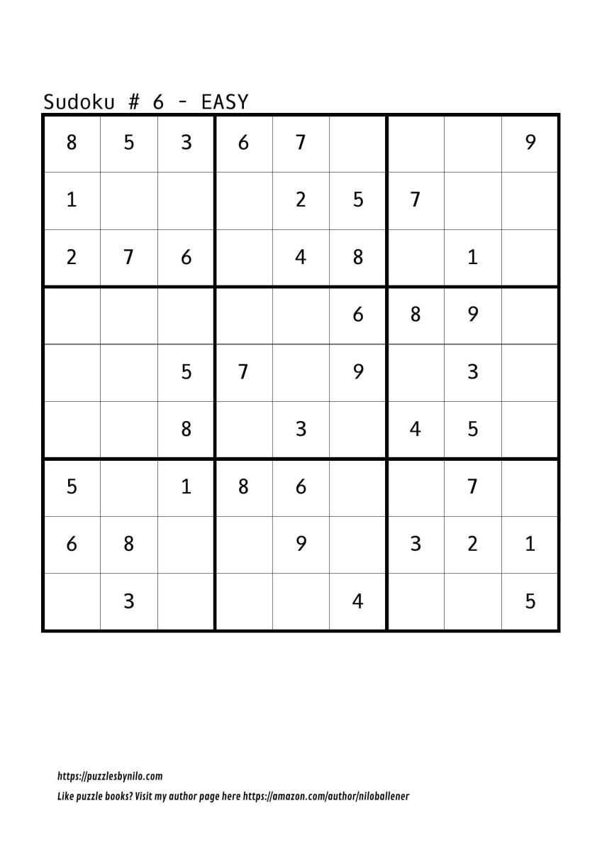 Free Downloadable Sudoku Puzzle Easy #6 | Puzzles | Sudoku Puzzles - Printable Sudoku Puzzles Easy #2