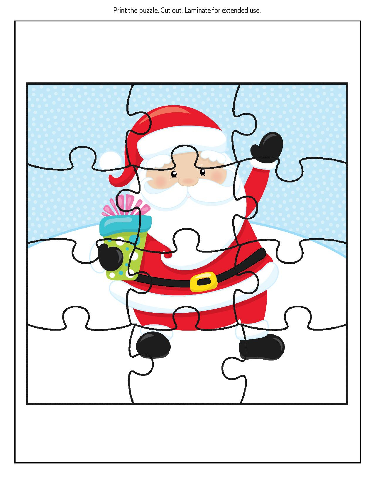 Free Educational Printable Christmas Puzzle Pack - Real And Quirky - Printable Santa Puzzle