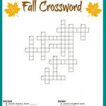 Free #fall Crossword Puzzle #printable Worksheet Available With And   Printable Crossword Puzzles For Grade 1