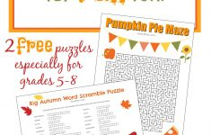 Free Fall Printable Puzzles – The Frugal Homeschooling Mom Aka Tfhsm   Printable Autumn Puzzles