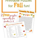 Free Fall Printable Puzzles | Ultimate Homeschool Board | Middle   Printable Halloween Puzzles For Middle School