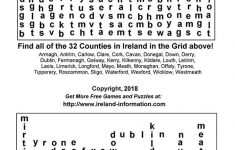 Free Games From Ireland. Printable Puzzles, Word Jumbles, Coloring   Printable Quiz Puzzles