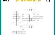 Free Halloween Crossword Puzzle Printable Worksheet Available With   Printable Crossword Creator