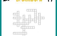 Free Halloween Crossword Puzzle Printable Worksheet Available With   Printable Halloween Crossword