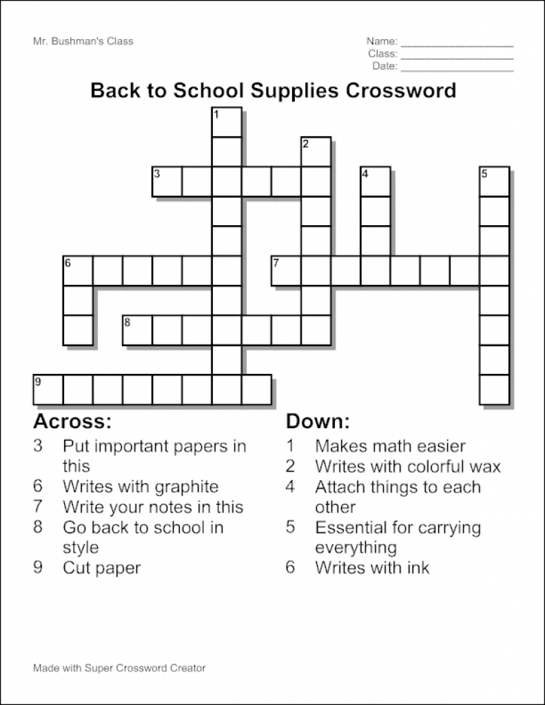 Free Make Your Own Crosswords Printable | Free Printables - Create Your Own Crossword Puzzle Printable