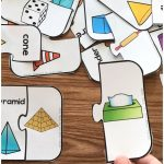Free Printable 3D Shape Puzzles | Occupational Therapy | 3D Shapes   Free Printable 3D Puzzles