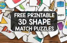 Free Printable 3D Shape Puzzles   Simply Kinder   Printable Shape Puzzles