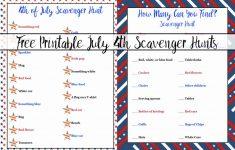 Free Printable 4Th Of July Scavenger Hunts: 2 Different Types   Printable 4Th Of July Crossword Puzzle