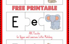 Free Printable Abc Puzzles | School Is Fun | Upper, Lowercase   Printable Letter Puzzles