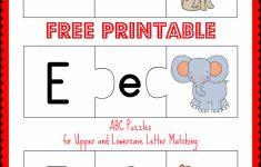 Free Printable Abc Puzzles | School Is Fun | Upper, Lowercase   Printable Puzzle Alphabet
