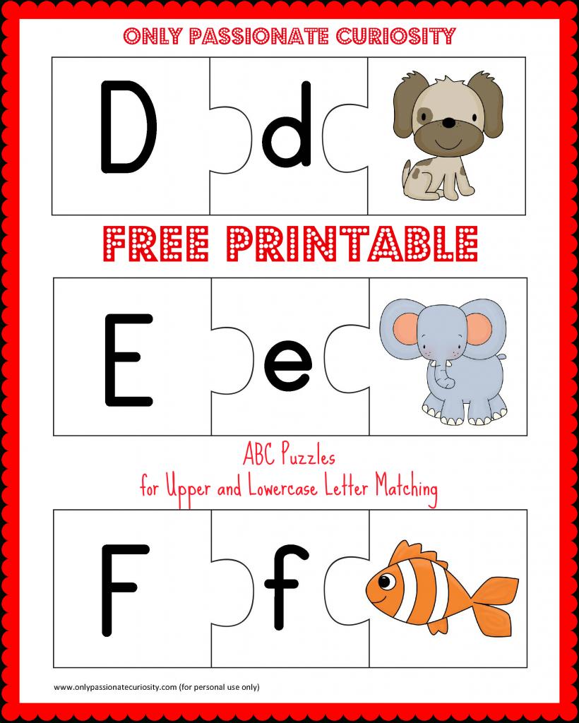 Free Printable Abc Puzzles | School Is Fun | Upper, Lowercase - Printable Puzzle Alphabet