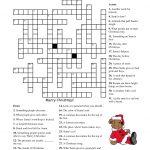 Free Printable Cards: Free Printable Crossword Puzzles | Christmas   Christmas Printable Crossword Puzzles Adults