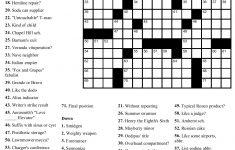 Free Printable Cards: Free Printable Crossword Puzzles   Free   Free   Printable Newspaper Puzzles