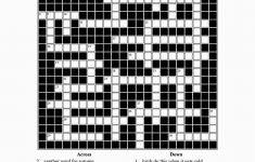 Free Printable Cards: Free Printable Crossword Puzzles | Free   Printable Crossword #2