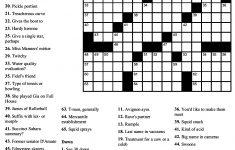 Free Printable Crossword Puzzles Easy Difficulty Crosswords   Free   General Knowledge Crossword Puzzles Printable