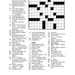 Free Printable Crossword Puzzles For Adults   Puzzles Word Searches   Printable New York Crossword Puzzles