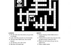 Free Printable Halloween Crosswords | Halloween | Halloween   Printable Halloween Puzzle Pages