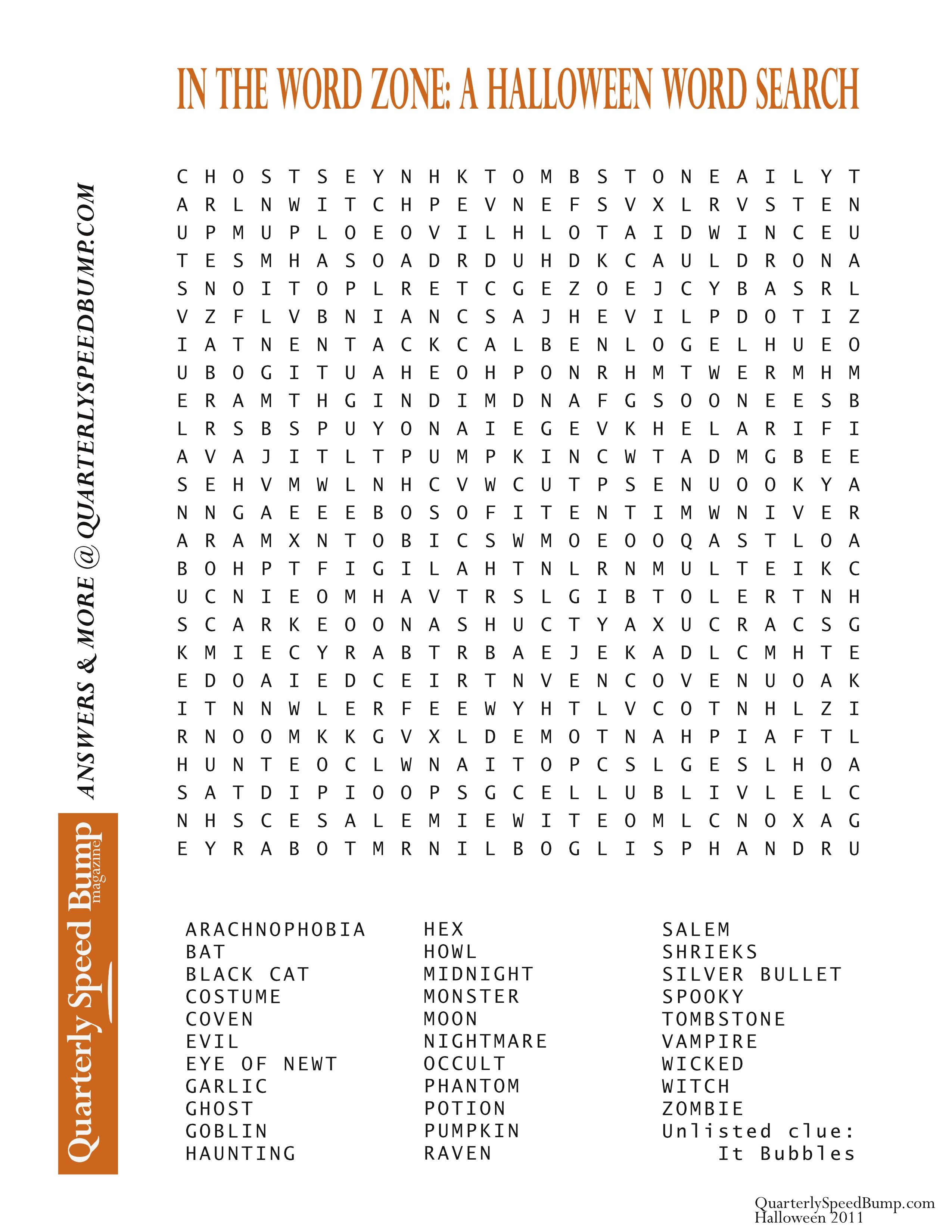 Free Printable Halloween Word Search Puzzles | Halloween Puzzle For - Printable Monster Puzzle