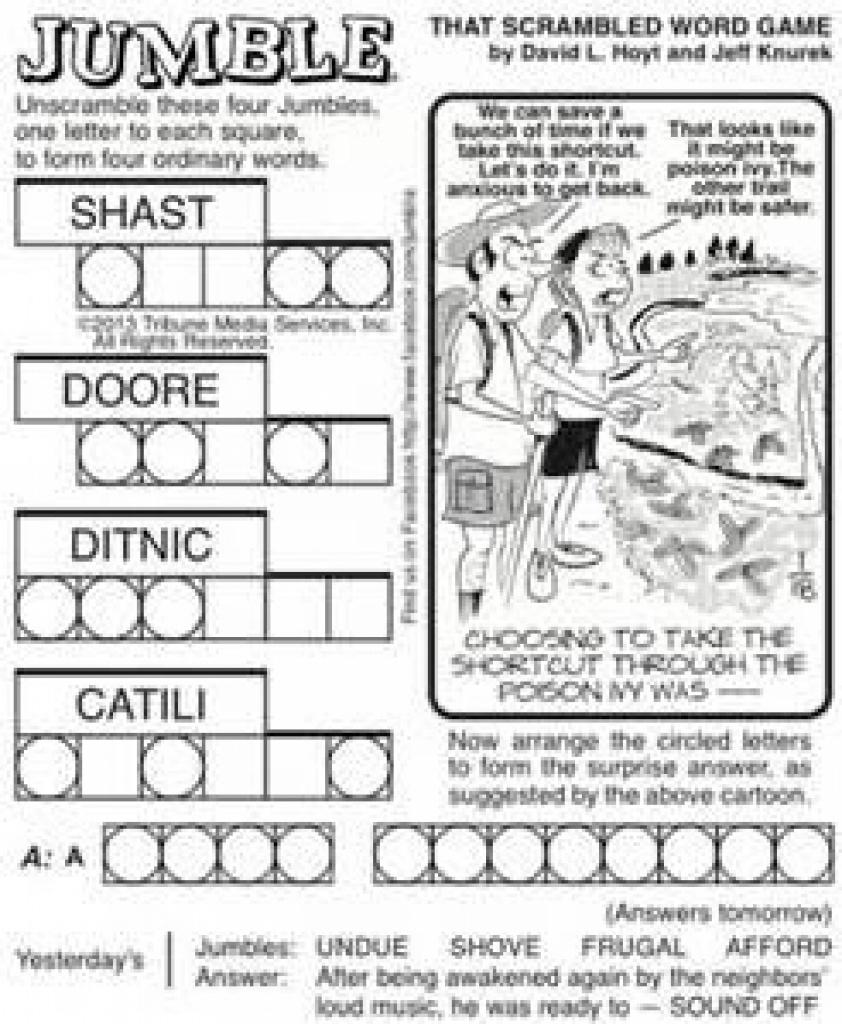 Free Printable Jumble Puzzles - Bing Images | Jumble Puzzles - Free - Printable Jumble Puzzle