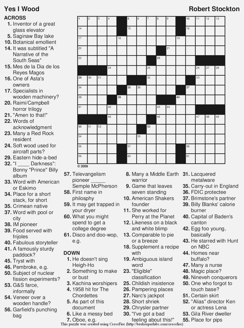 Free Printable Large Print Crossword Puzzles | M3U8 - Free Large Print Crossword Puzzles Online