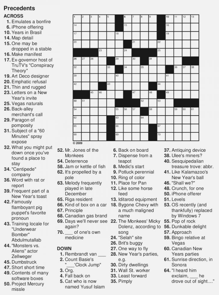 Large Print Crossword Puzzles Printable