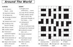 Free Printable Large Print Crossword Puzzles | M3U8   Printable Crossword For 8 Year Olds