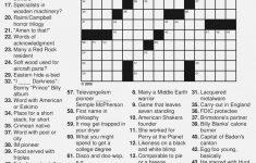 Free Printable Large Print Crossword Puzzles | M3U8   Printable Crossword Puzzles By Category