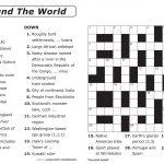 Free Printable Large Print Crossword Puzzles | M3U8   Printable Puzzles For 9 Year Olds
