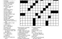 Free Printable Large Print Crossword Puzzles | M3U8   Simple Crossword Puzzles Printable Pdf