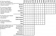 Free Printable Logic Puzzles For High School Students   Free Printables   Printable Logic Puzzle