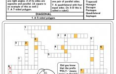 Free Printable Math Puzzles Number Crosswords Make Puzzle Worksheet   Printable Math Crossword Puzzles For High School