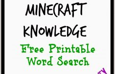 Free Printable Minecraft Crossword Search: Test Your Minecraft   Printable Buzzword Puzzles