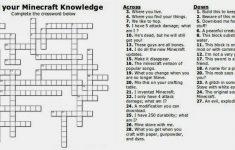 Free Printable Minecraft Crossword Search: Test Your Minecraft   Printable Quiz Crossword