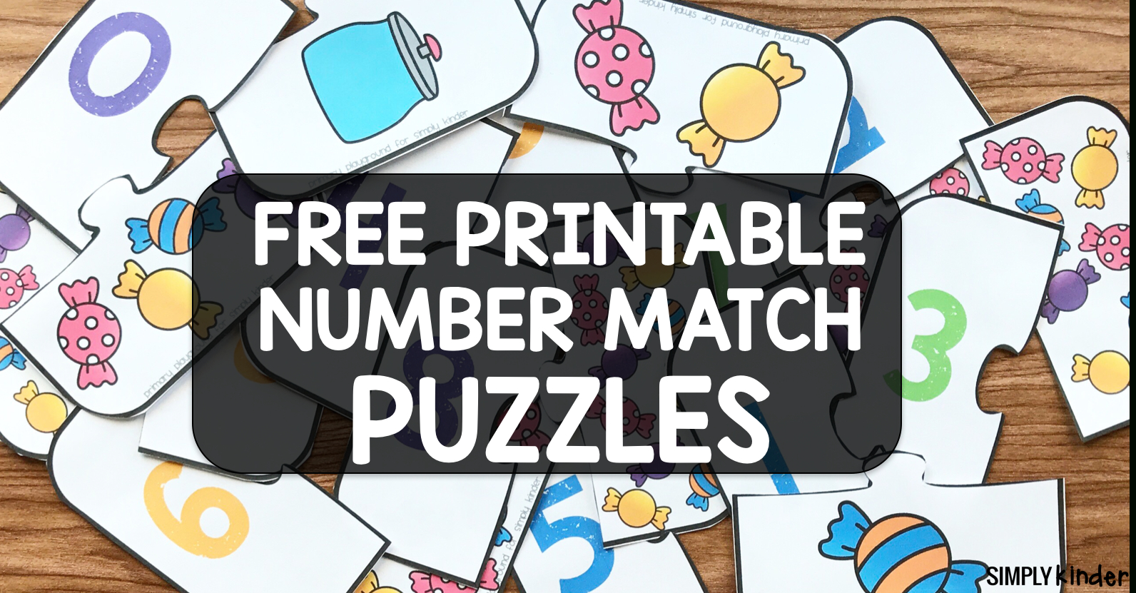 Free Printable Number Match Puzzles - Simply Kinder - Printable Matching Puzzle