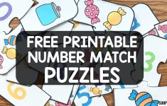 Free Printable Number Match Puzzles   Simply Kinder   Printable Number Puzzle
