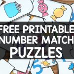 Free Printable Number Match Puzzles   Simply Kinder   Printable Number Puzzles