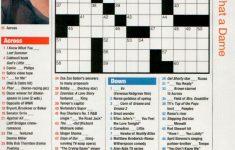 Free Printable People Magazine Crossword   Printable People Magazine Crossword Puzzles