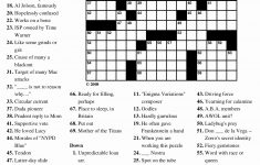 Free Printable Puzzles Or 6 Best Of Printable Crossword Puzzles With   Printable Puzzles With Solutions