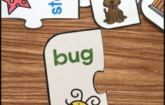 Free Printable Rhyming Puzzles   Simply Kinder   Printable Floor Puzzle