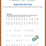 Free Printable Secret Code Word Puzzle For Kids. This Puzzle Has A   Printable Codeword Puzzles