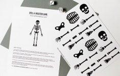 Free Printable Skeleton Game — All For The Boys   Printable Skeleton Puzzle